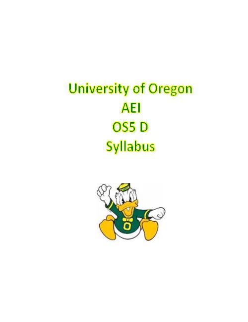 OS5 Syllabus
