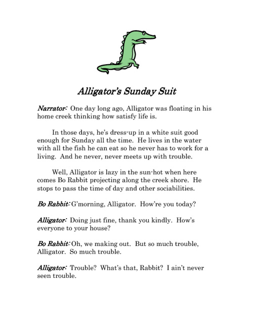 Alligator's Sunday Suit