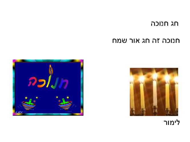 חנוכה - מצגת משותפת כיתה ג'