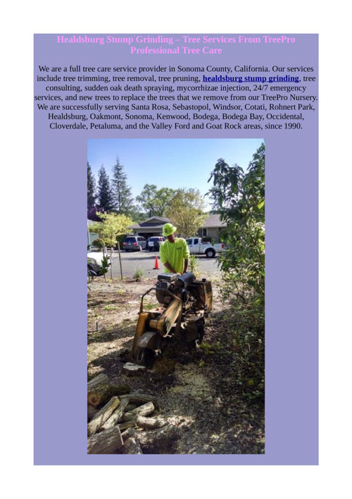 healdsburg stump grinding