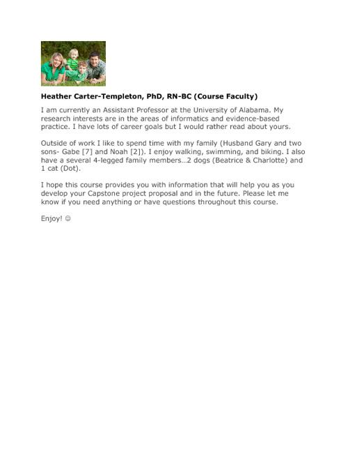 NUR 732 (905) Fall 2012 Intros