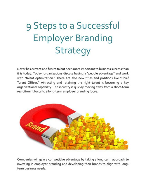 9 Steps to a Successful Employer Branding Strategy