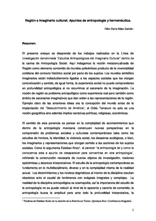 Miradas desde la Aldea. Cuadernos de Antropología Social UV