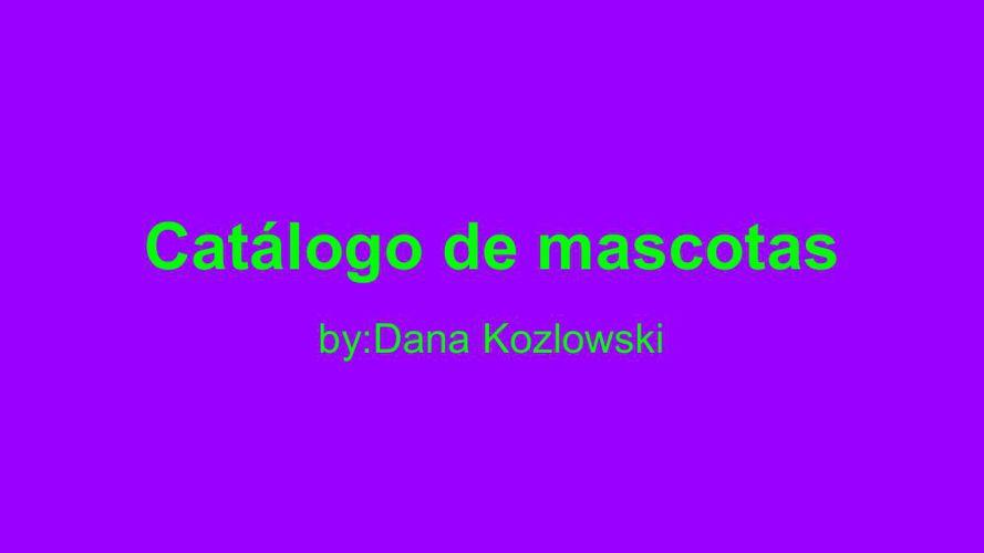 Catalog Project - DANA KOZLOWSKI