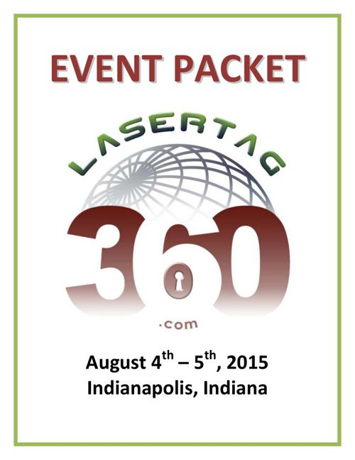 Creative Works LaserTAG360 Aug 2015 Event Packet