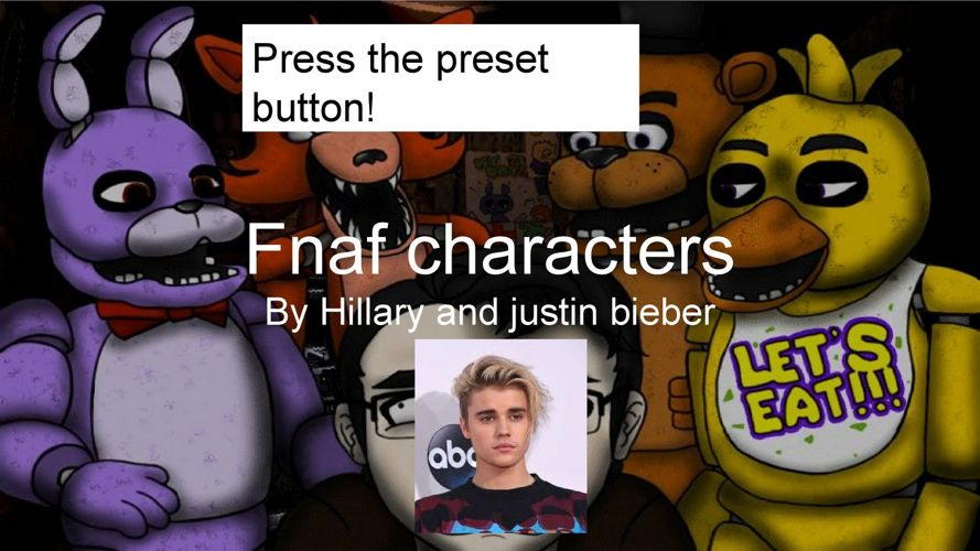 Fnaf by hilary and justin beiber