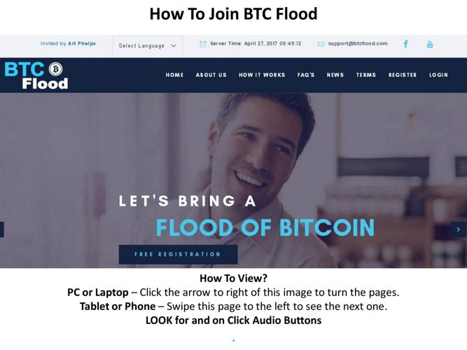 How To Join BTCFlood