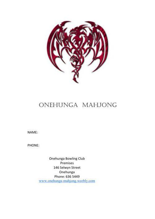 Onehunga Mah Jong