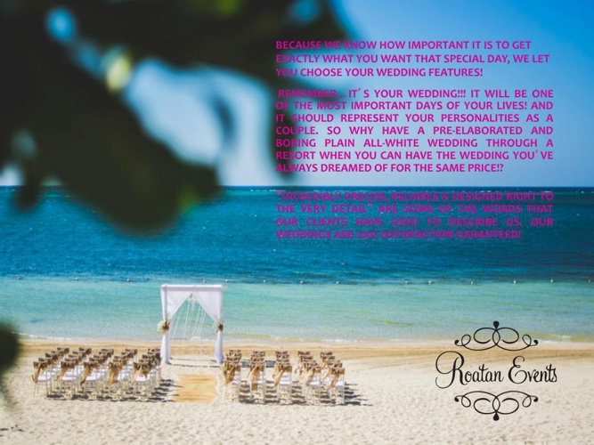 Roatan Events Wedding Catalog 2014