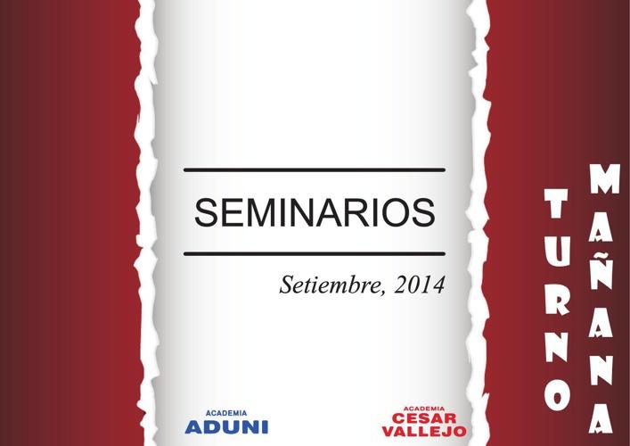 SEMINARIOS SETIEMBRE 2014 - Academias ADUNI y Cesar Vallejo