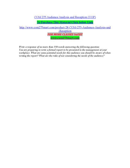 COM 275 MART Teaching Effectively/com275mart.com