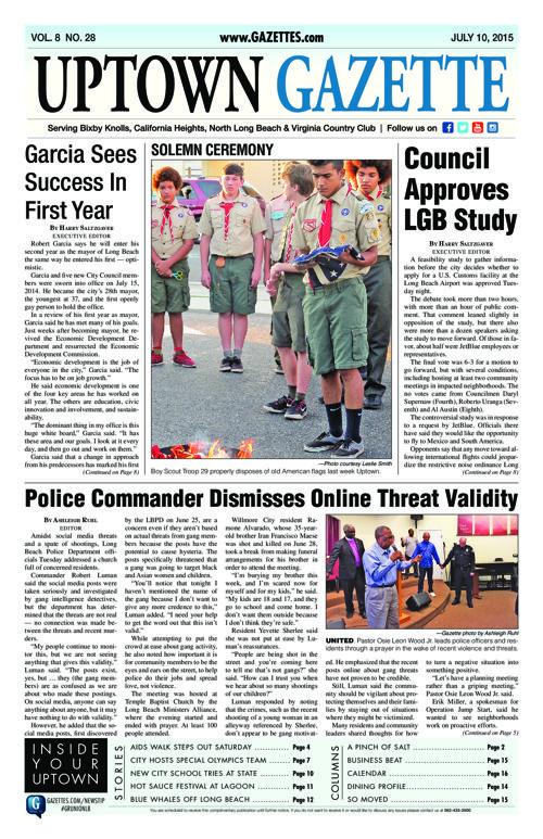 Uptown Gazette     July 10, 2015