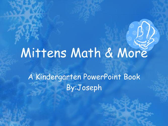Joseph's Mittens Math & More