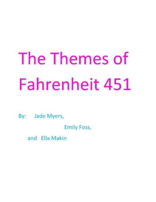 The Themes of Fahrenheit 451
