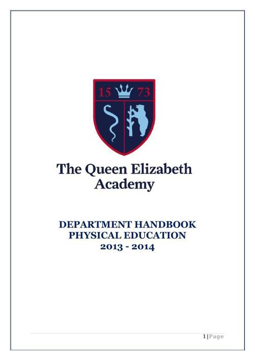 PE department handbook 2014 to 2015