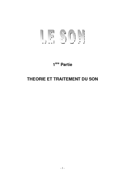 CréAction - Le Son