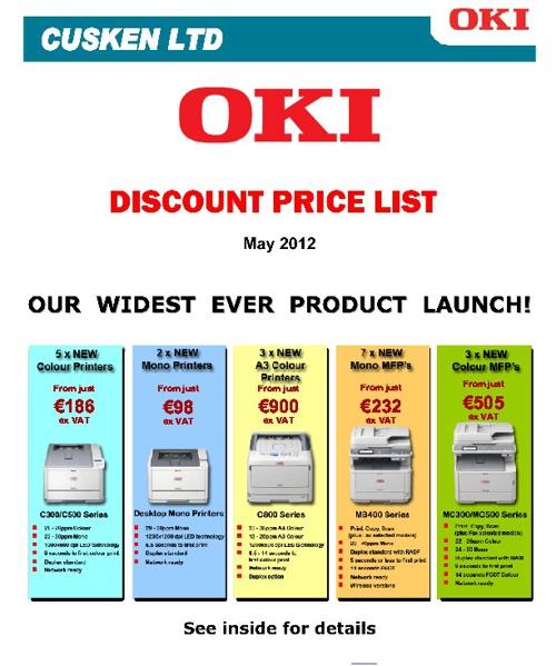 OKI DISCOUNT PRICE LIST
