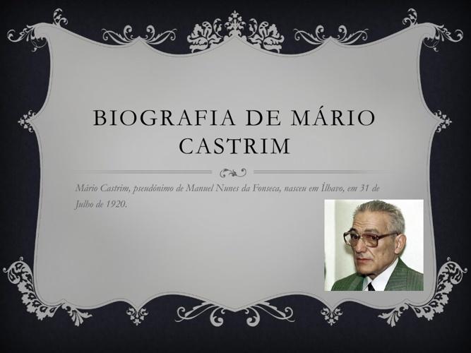 Biografia de Mário Castrim