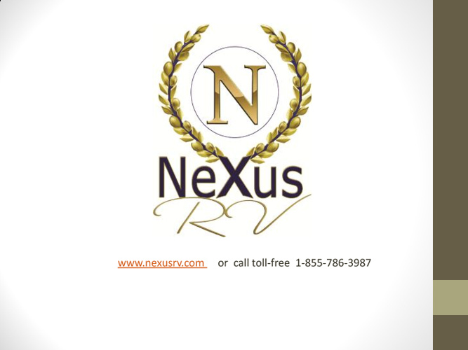 Factory Direct Motorhomes from NeXus RV