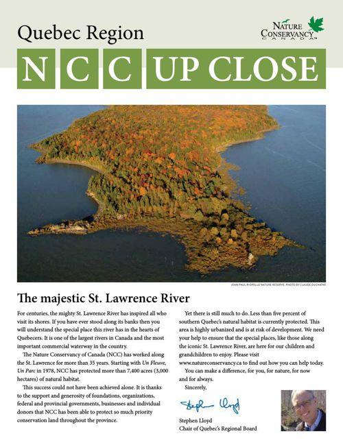 NCC Up Close - Quebec Region
