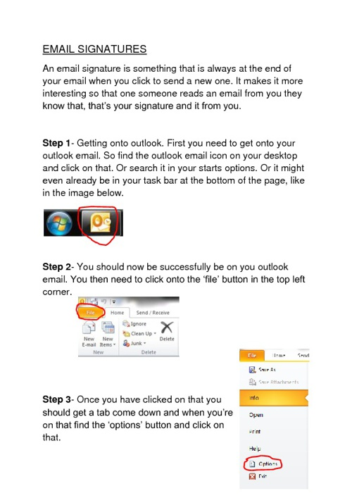 Email Signatures Helpsheet
