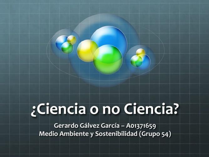 Ciencia o no Ciencia