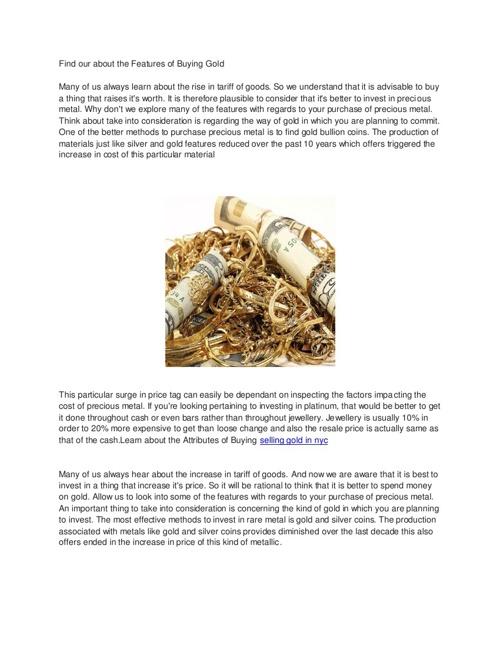sell gold manhattan