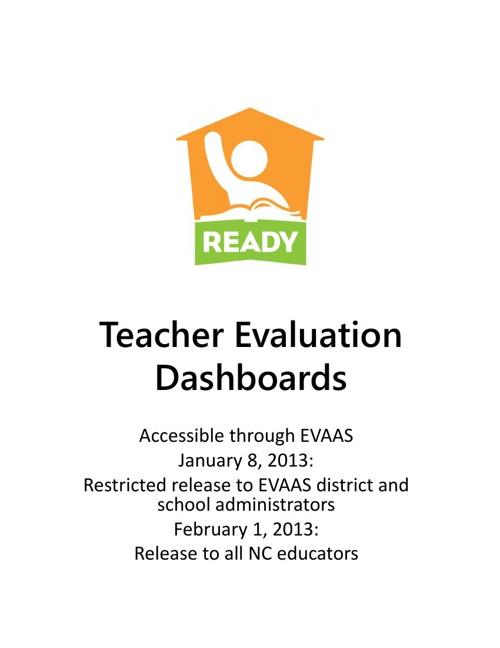 Teacher Evaluation Dashboard Manual