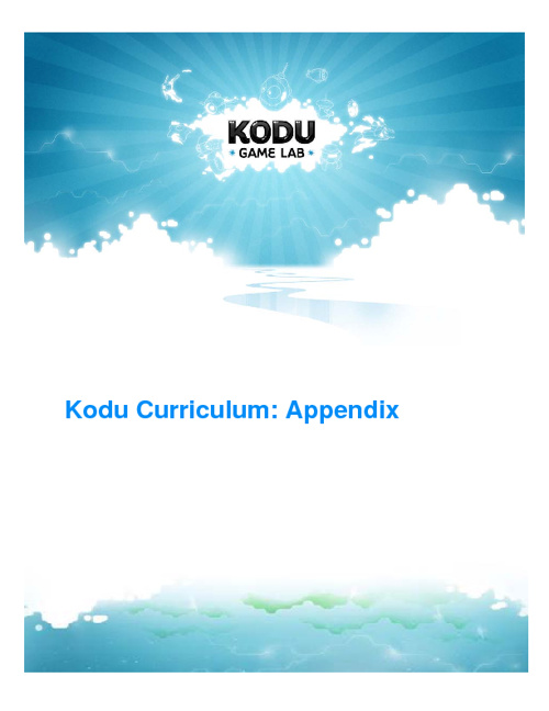 Kodu Appendix