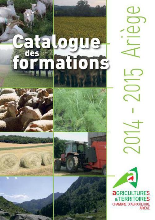 Catalogue des formations 2014-2015 Chambre d'agriculture ariège