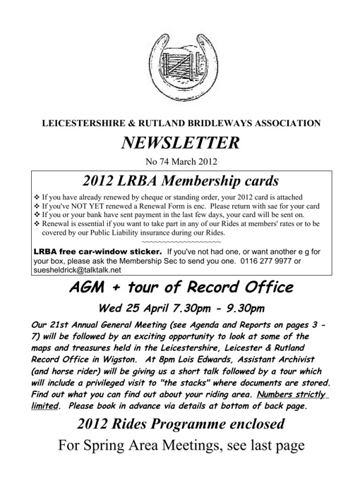 2012 Newsletters