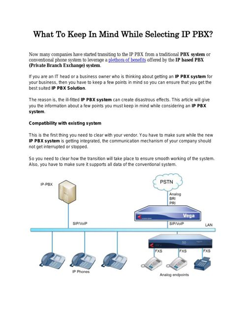 What To Keep In Mind While Selecting IP PBX