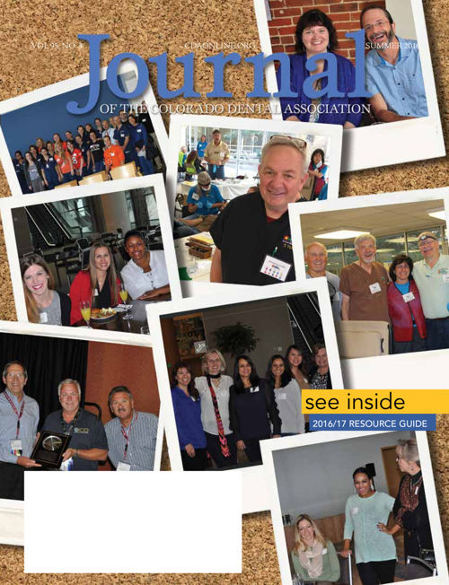 Summer 2016 Journal of the Colorado Dental Association