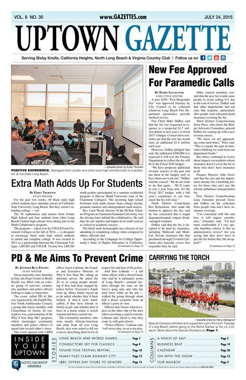 Uptown Gazette     July 24, 2015