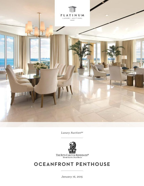 Ritz-Carlton Residences Florida Auction