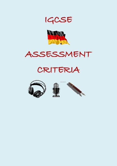 IGCSE Assessment Criteria