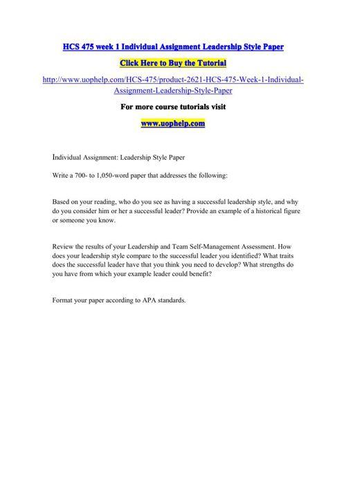 HCS 475 Squared Instruction/uophelp