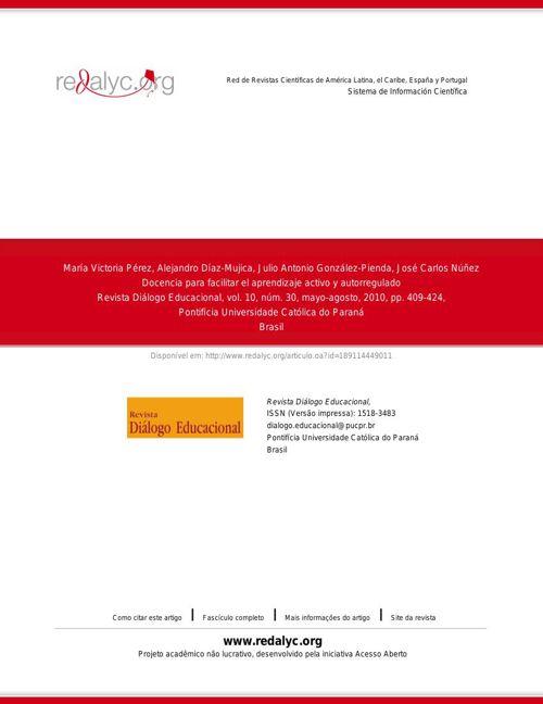 Docencia para facilitar el aprendizaje activo y autorregulado
