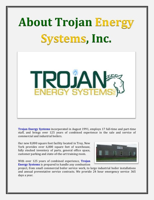 About Trojan Energy Systems, Inc.