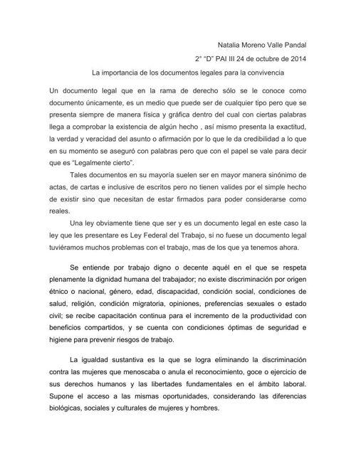 Natalia Moreno Valle 2°D Texto Argumentativo