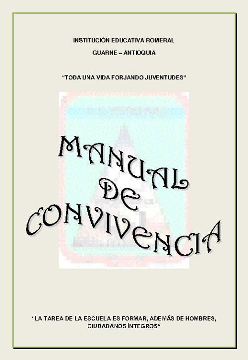 MANUAL DE CONVIVENCIA - ROMERAL