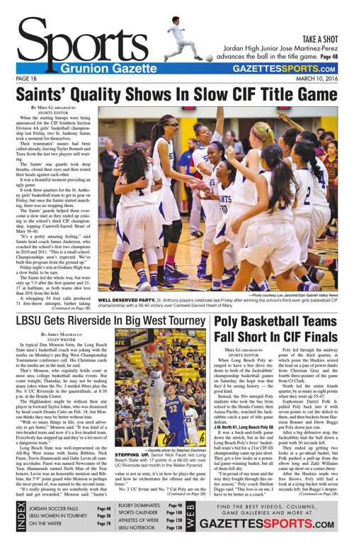 Gazette Sports | March 10, 2016
