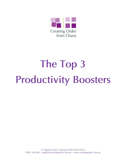 The Top 3 Productivity Boosters