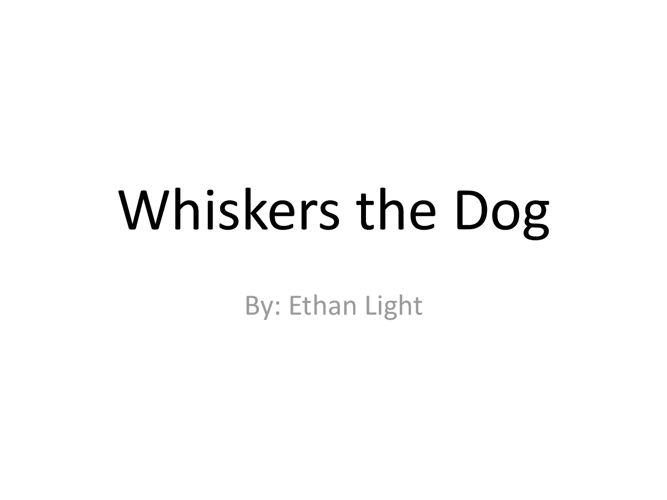 Whiskers the Dog