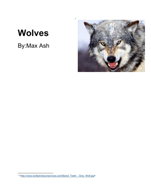 Wolves  By Max