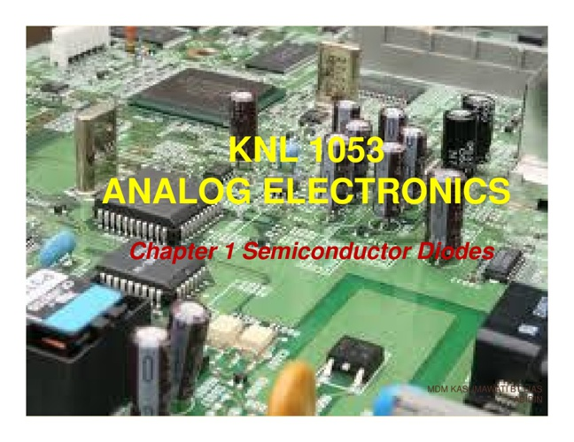 chapter 1 semiconductor diodes