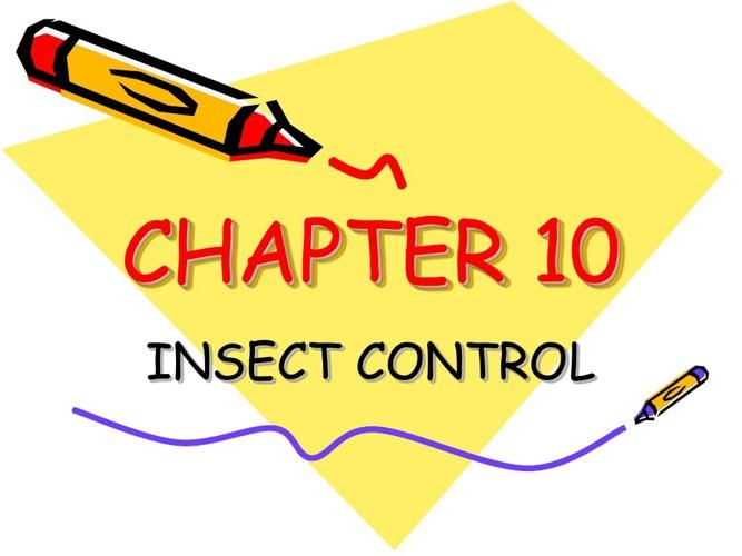 ENTOMOLOGY: Chapter 10