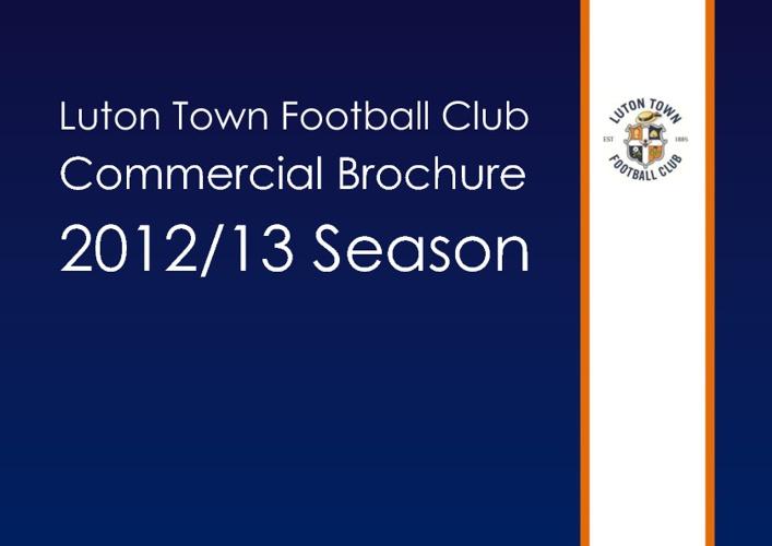 Luton Town FC Commercial Brochure