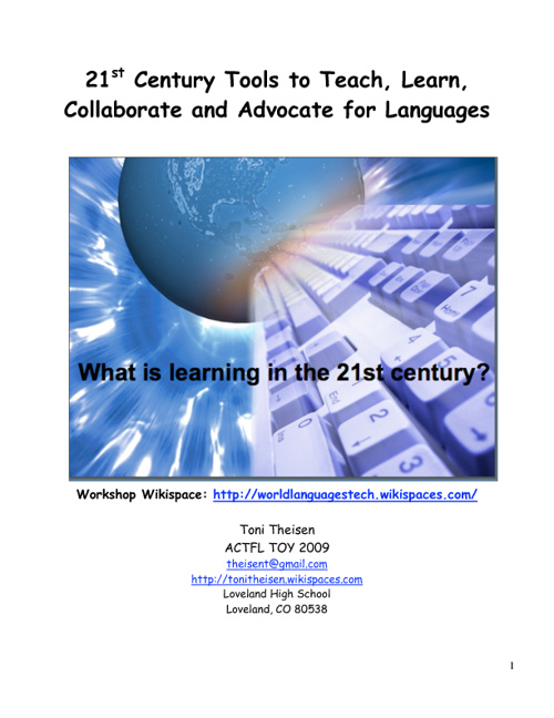 21st Century Tools to Teach, Learn, Collaborate and Advocate for