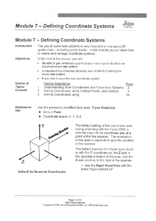 Module 7 - Coordinate Systems